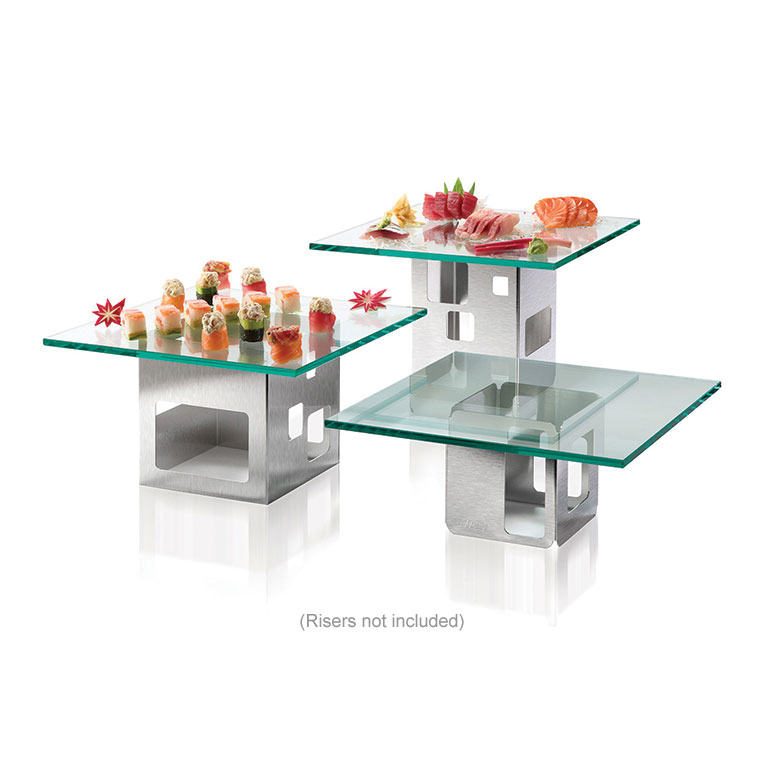 "Rosseto GTS14 14"" Glass Square Display Shelf/Tray - Clear"