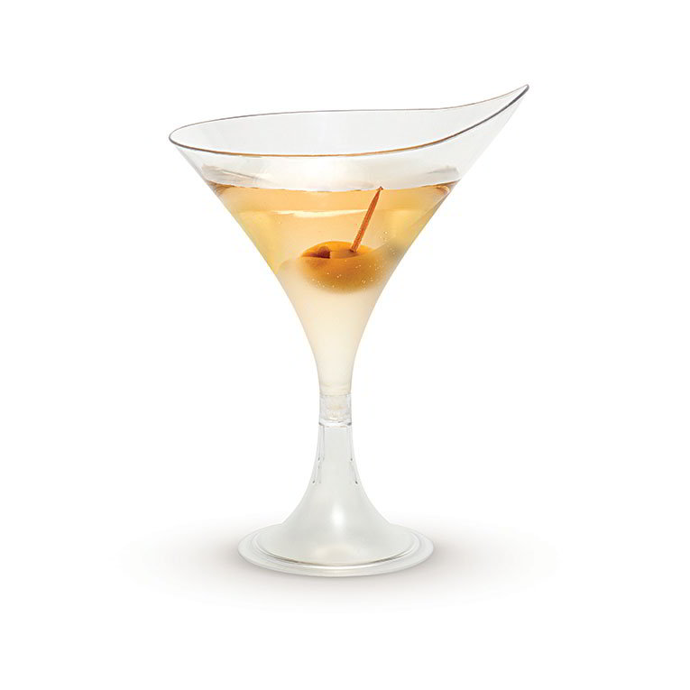 Rosseto L50200 5-1/2-oz Liteware Martini Glass - Polystyrene, Clear
