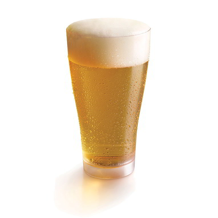 Rosseto L50500 18-oz Liteware Beer Glass - Polystyrene, Clear
