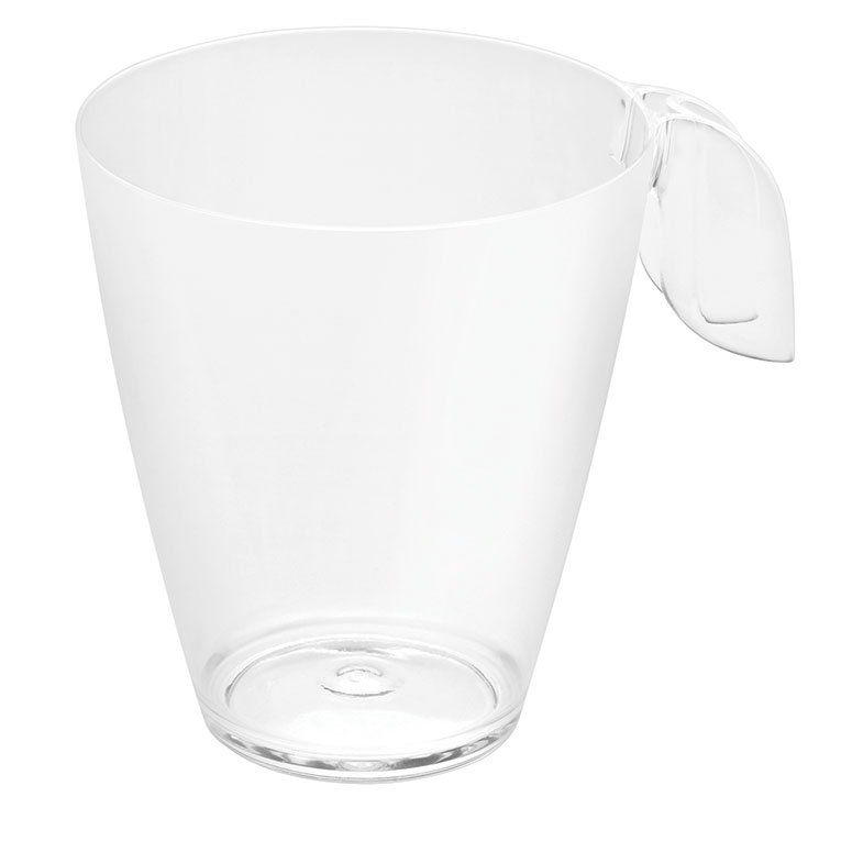 Rosseto L50600 8-oz Liteware Leaf Coffee Cup - Polystyrene, Clear