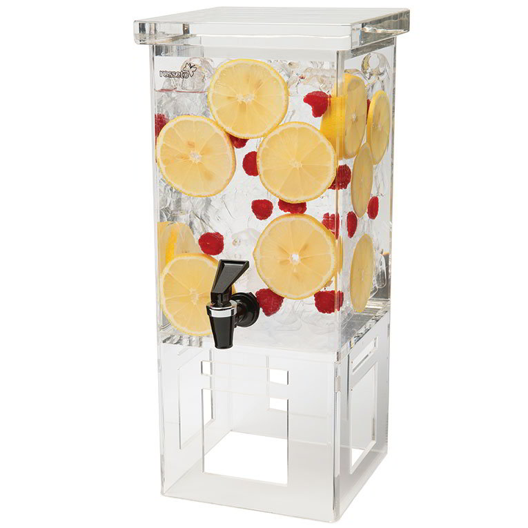 Rosseto LD106 1-gal Rectangular Beverage Dispenser - Acrylic Base