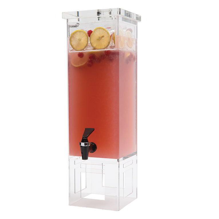 Rosseto LD111 2-gal Rectangular Beverage Dispenser - Acrylic Base
