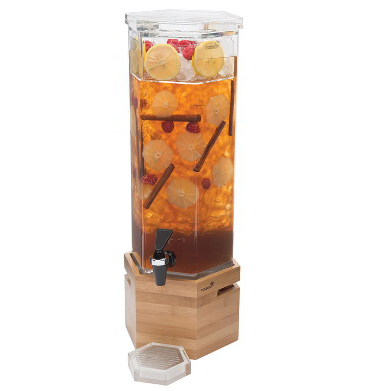 Rosseto LD114 1-1/2-gal Beverage Dispenser - Bamboo Base