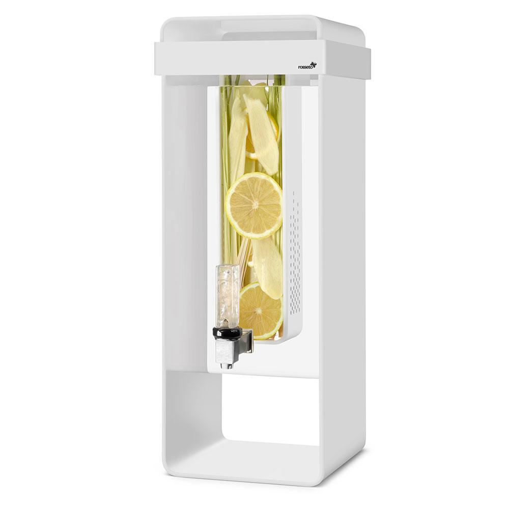 "Rosseto LD150 3-gal Square Beverage Dispenser w/ Infusion Chamber - 8.4"" x 22"", White"