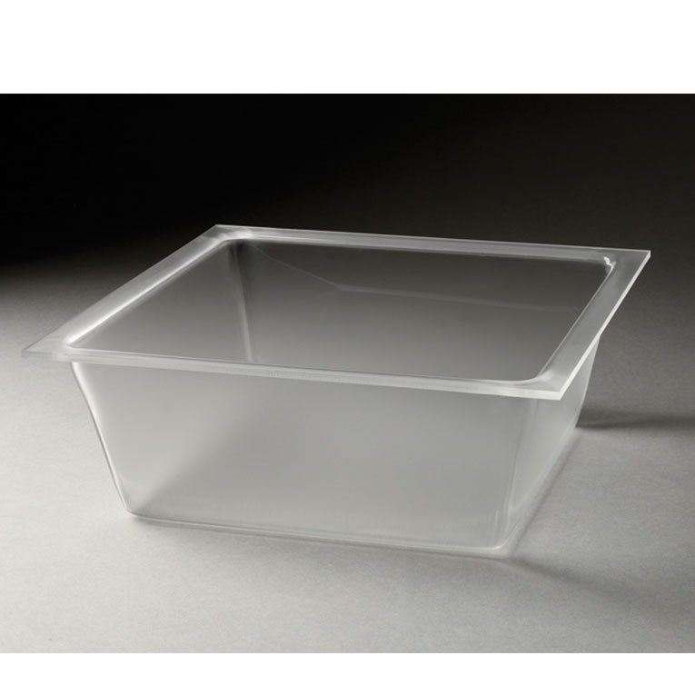 "Rosseto LDT1401 13-3/10"" Square Flat Serving Tray - Frosted Acrylic"