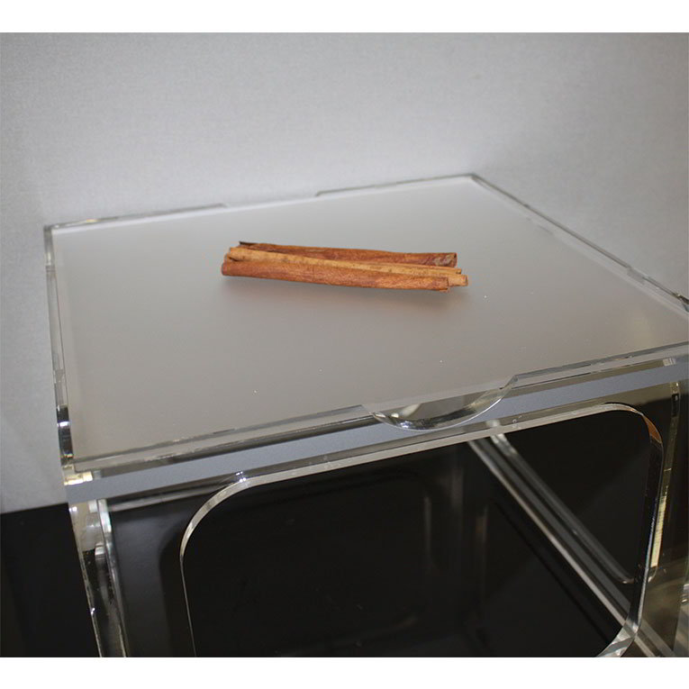 """Rosseto Serving Solutions LFL0206 13-1/4"""" Square Serving Tray - Frosted Acrylic"""