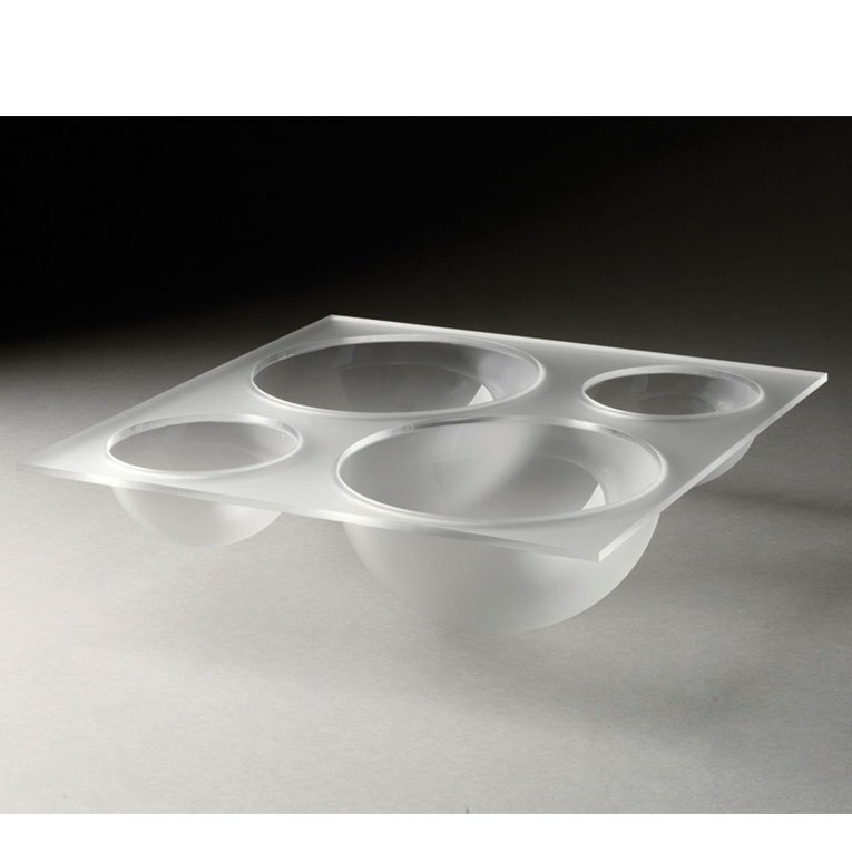 Rosseto LQT1340 4-Compartment Serving Bowl - Frosted Acrylic