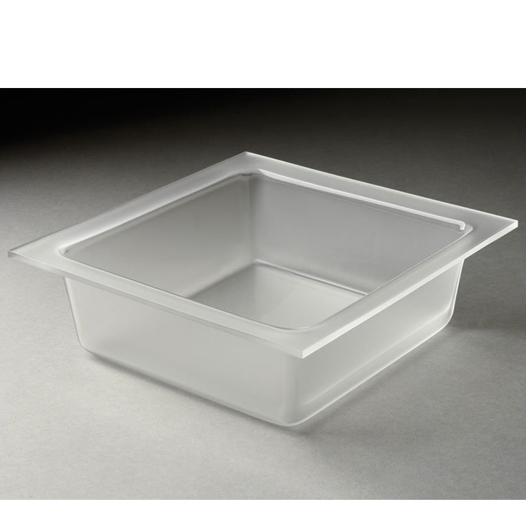 "Rosseto LST1395 13-3/10"" Square Serving Tray - Frosted Acrylic"