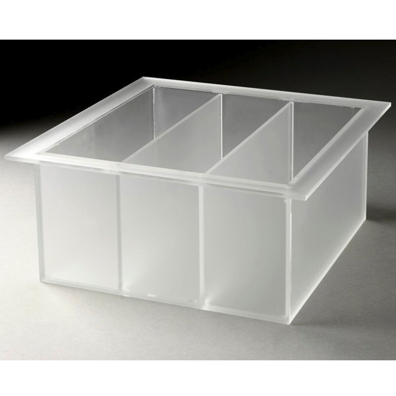 Rosseto LTT1371 3-Compartment Square Serving Bowl - Frosted Acrylic
