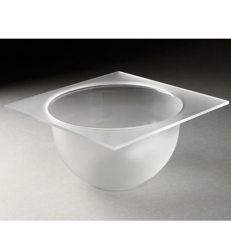"Rosseto MBT1432 8"" Round Serving Tray - Frosted Acrylic"