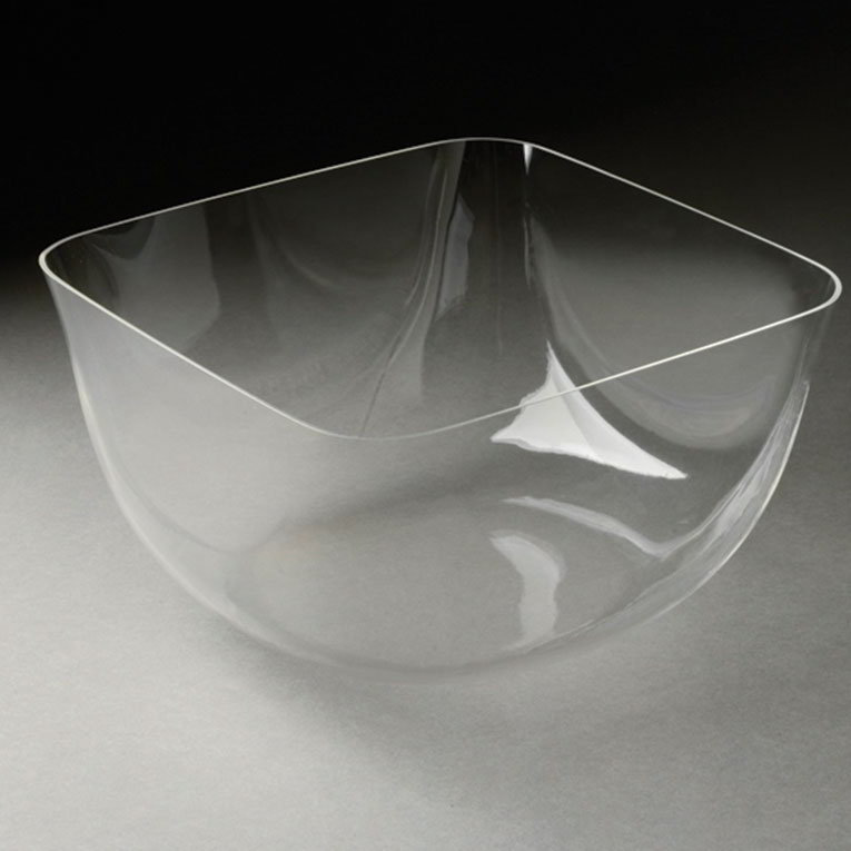 "Rosseto MIB1470 8-7/10"" Square Ice Serving Bowl - Clear Acrylic"