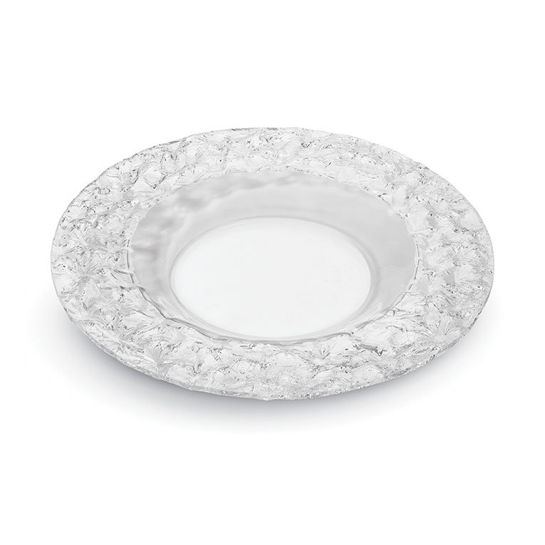 "Rosseto PPC8C 8"" Round Acrylic Platter - Clear"