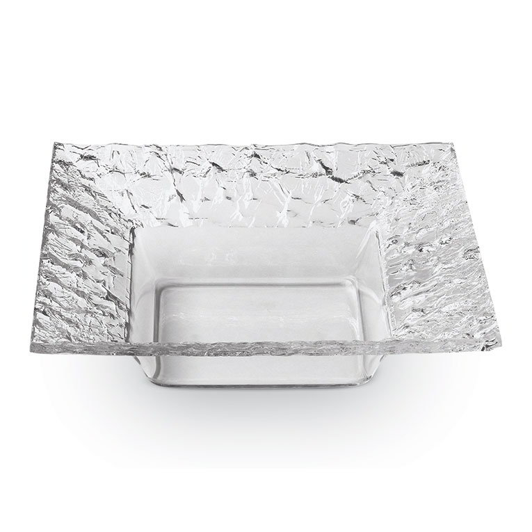 "Rosseto Serving Solutions PPS7C 7"" Square Acrylic Serving Dish - Clear"