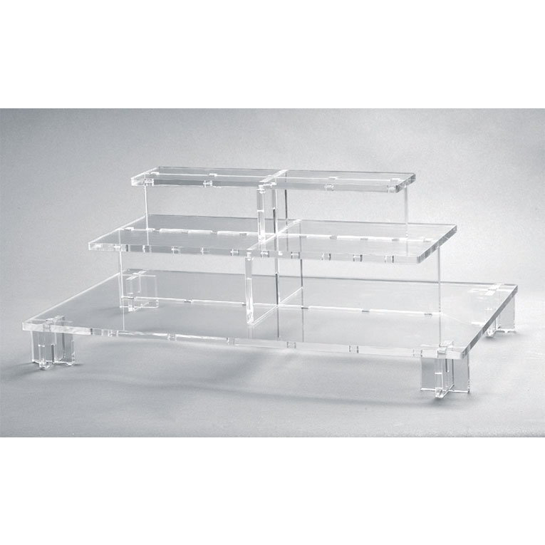 "Rosseto PSC579 3-Tier Pagoda Display Stand - 26-1/3x13-3/4x9-1/2"" Acrylic, Clear"