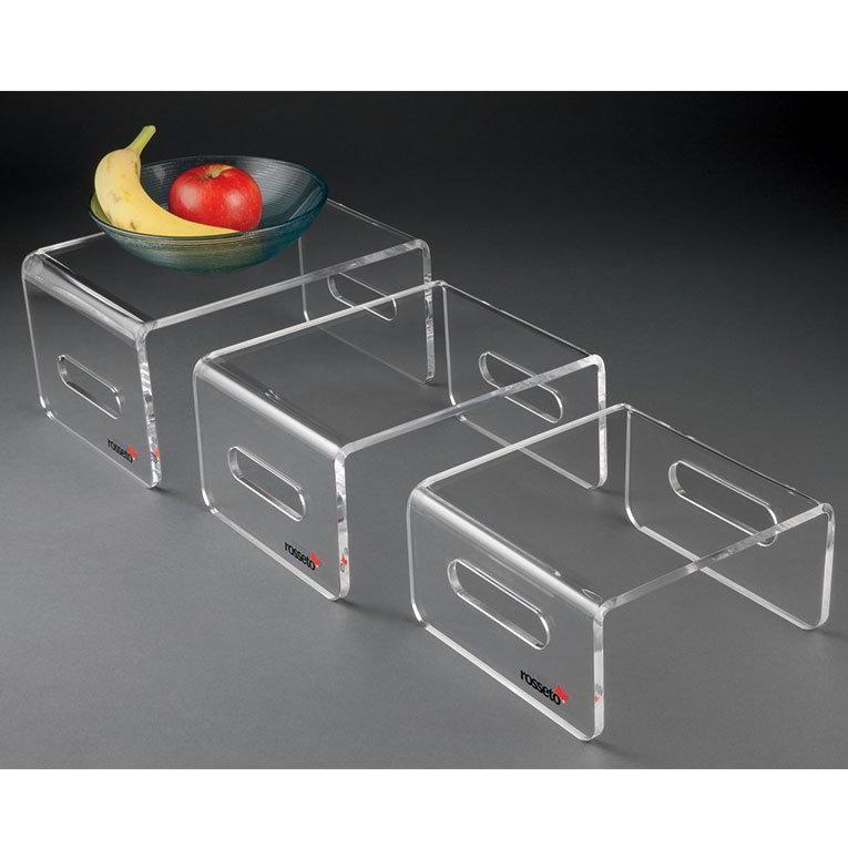 Rosseto RDC107 Multi-Level Riser Set - Acrylic, Clear