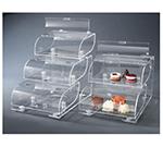 "Rosseto Serving Solutions BAK1210 3-Tier Countertop Bakery Display Case - 19x15x22"" Acrylic, Clear"