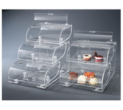 "Rosseto Serving Solutions BAK1210 3-Tier Countertop Bakery Display Case - 19x15x22"" Acrylic, Clear"