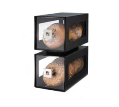 """Rosseto Serving Solutions BD101 2-Drawer Countertop Bakery Display Case - 11-3/4x6-1/4x13"""" Acrylic/Black"""