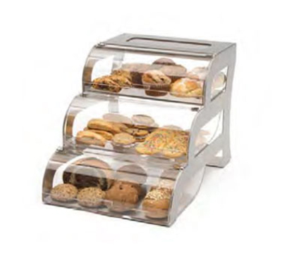 "Rosseto Serving Solutions BK010 3-Drawer Bakery Stand - 15-1/4x23-1/4x15-1/2"" Acrylic/Stainless"