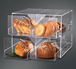 """Rosseto Serving Solutions D13700 4-Drawer Bakery Display Case - 15x14-1/2x12"""" Acrylic, Clear"""