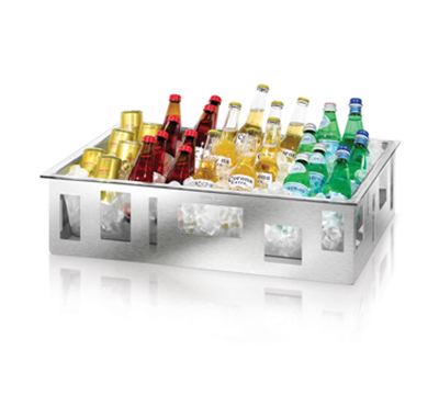 """Rosseto Serving Solutions D60077C Rectangular Ice Tub - 26-1/2x18-1/2x7"""" Acrylic/Stainless"""