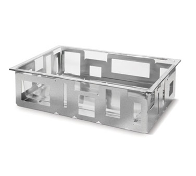 "Rosseto Serving Solutions D62577C Rectangular Ice Tub - 21x13x6"" Acrylic/Stainless"
