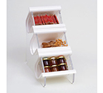 Rosseto Serving Solutions EZO708 Countertop Condiment Caddy - (3)Compartments, White