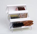 Rosseto Serving Solutions EZO722 Countertop Condiment Caddy - (6) Compartments, Black