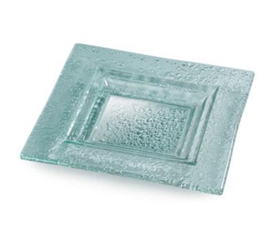 "Rosseto Serving Solutions GSP08 8"" Glass Square Serving Platter - Green"