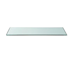 "Rosseto Serving Solutions GTR20 Rectangular Glass Display Shelf/Tray - 33-1/2x8"" Clear"