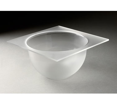 "Rosseto Serving Solutions MBT1432 8"" Round Serving Tray - Frosted Acrylic"