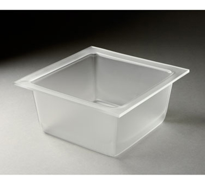 "Rosseto Serving Solutions MDT1456 9-2/5"" Square Serving Bowl - Frosted Acrylic"
