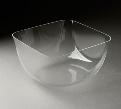 """Rosseto Serving Solutions MIB1470 8-7/10"""" Square Ice Serving Bowl - Clear Acrylic"""