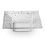 """Rosseto Serving Solutions PPS10C 10"""" Square Acrylic Serving Dish - Clear"""
