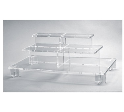 "Rosseto Serving Solutions PSC579 3-Tier Pagoda Display Stand - 26-1/3x13-3/4x9-1/2"" Acrylic, Clear"