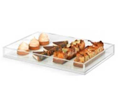 "Rosseto Serving Solutions SA115 Rectangular Serving Tray - 18x12"" Clear Acrylic"