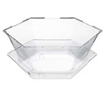 Rosseto Serving Solutions SA121 8-qt Honeycomb Ice Tub - Catch Tray, Clear Acrylic