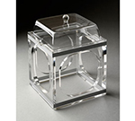 "Rosseto Serving Solutions SMP1487 Small Mod Pod with Lid - 6x6x7-2/3"" Clear Acrylic"