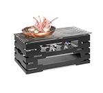 """Rosseto Serving Solutions SK032 Rectangular Warmer Kit - 23-1/4x13-1/2x10-1/2"""" Black"""