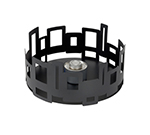"Rosseto Serving Solutions SM106 14"" Round Warmer/Chafer - 7"" High, Black"
