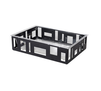 "Rosseto Serving Solutions SM114 Rectangular Ice Tub - 26-1/2x18-1/2x7"" Acrylic/Black"