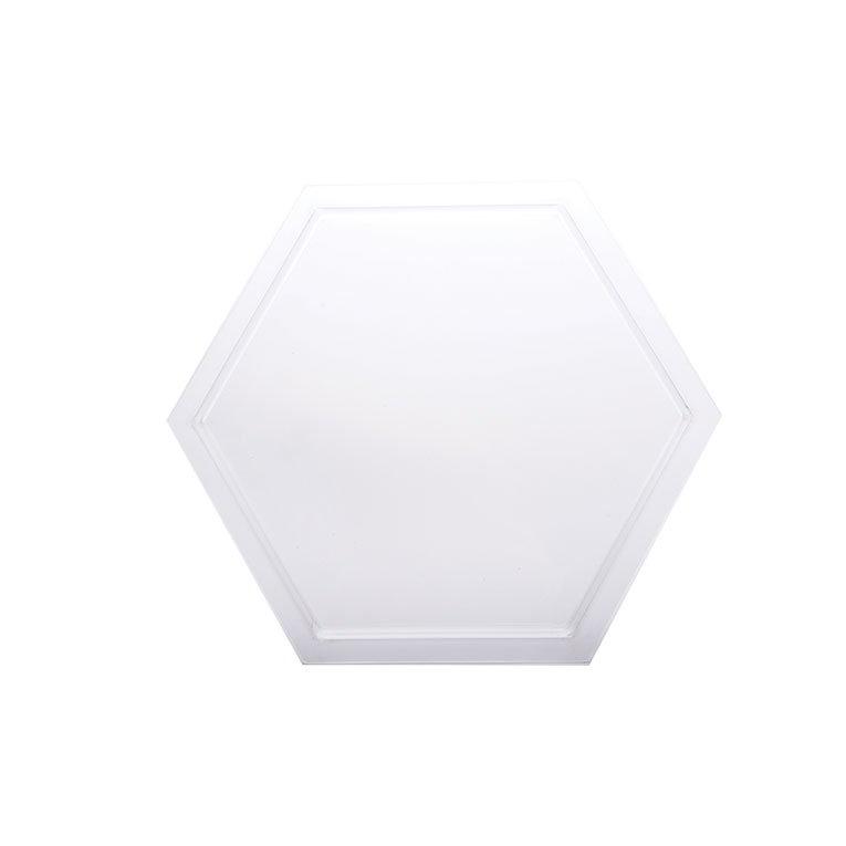 "Rosseto SA103 14-1/4"" Honeycomb Platter/Tray - Frosted Acrylic"