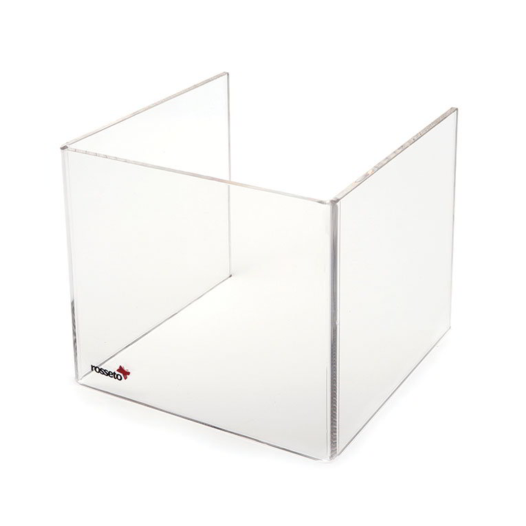 "Rosseto SA109 Tall Windguard For 10"" Square Warmer - Clear Acrylic"