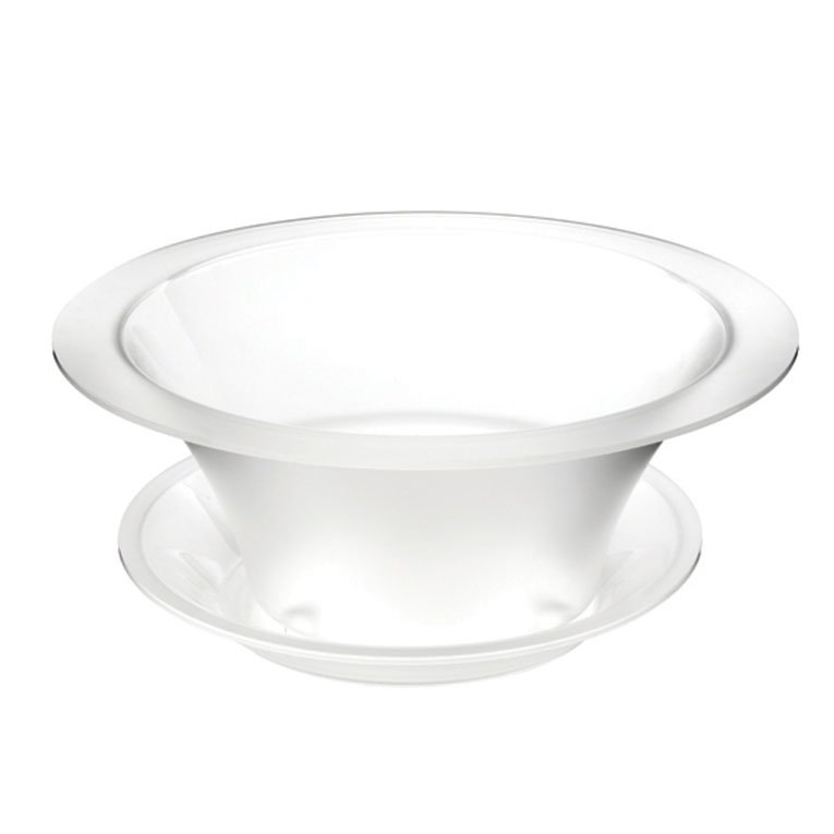 """Rosseto Serving Solutions SA112 17"""" Round Ice Bath - Frosted Acrylic"""
