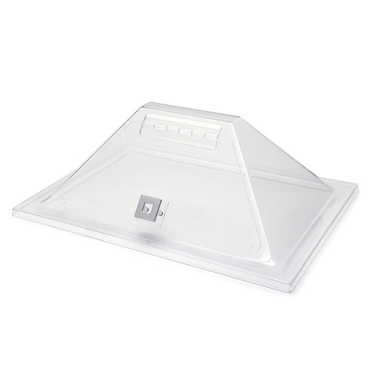 "Rosseto SA124 Pyramid Display Cover, 21"" x 15"" x 8"", Acrylic, Clear"