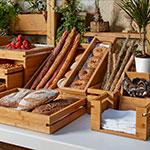 Rosseto SB112 Natura™ 2-Piece Tray & Stand Set, Bamboo