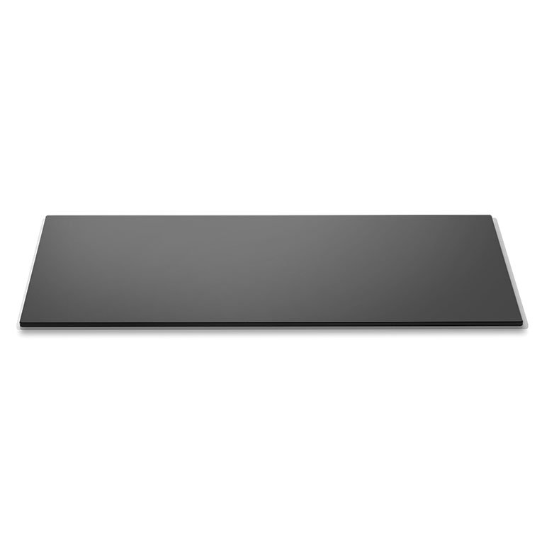 "Rosseto SG003 Rectangular Glass Display Platter - 34x14"" Black"
