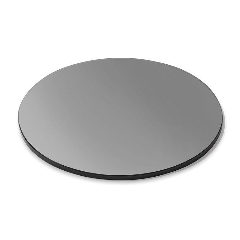"Rosseto SG005 20"" Round Glass Display Platter - Black"