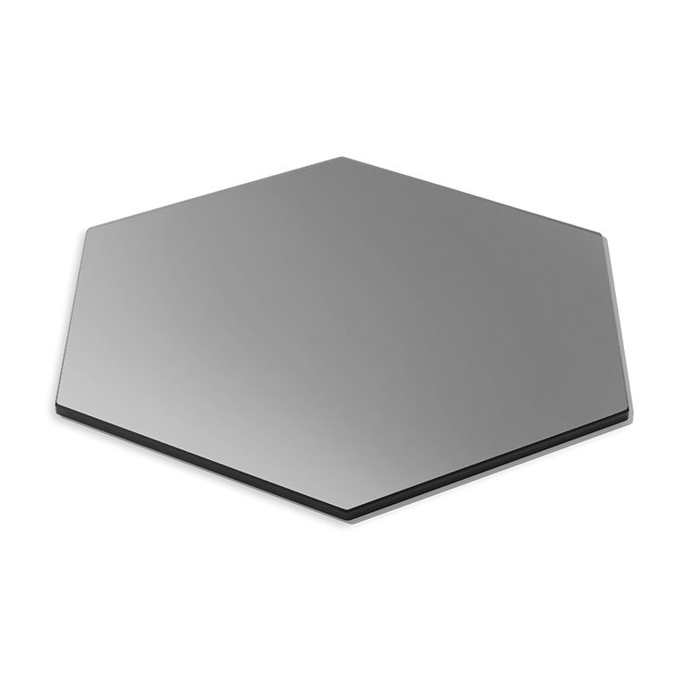 "Rosseto SG007 21"" Honeycomb Display Platter - Tempered Glass, Black"