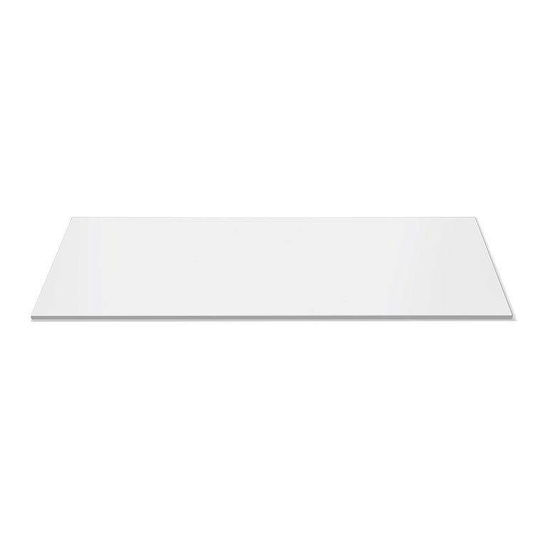 "Rosseto SG019 Rectangular Display Platter - 33-1/2x14"" Acrylic, White"